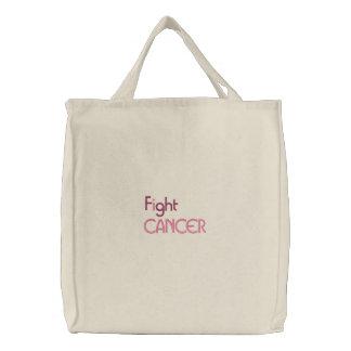 I fight cancer embroidered bag