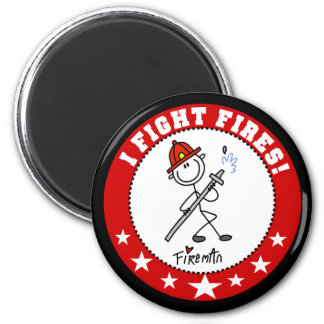 I Fight Fires Firefighter 2 Inch Round Magnet