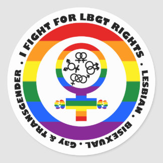I Fight For LGBT Rights Classic Round Sticker