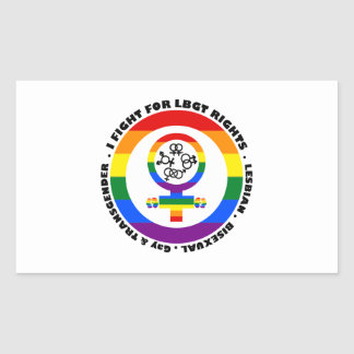 I Fight For LGBT Rights Rectangular Sticker