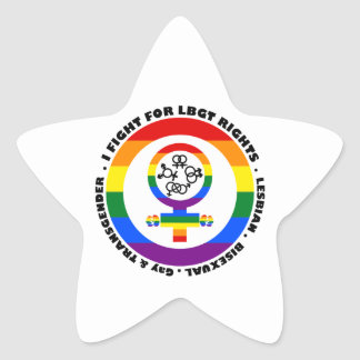 I Fight For LGBT Rights Star Sticker