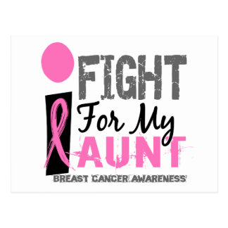 I Fight For My Aunt Breast Cancer Postcard