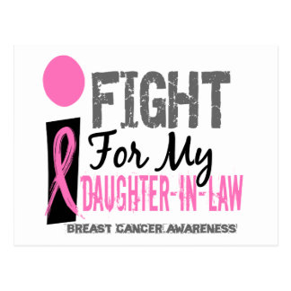 I Fight For My Daughter-In-Law Breast Cancer Postcard