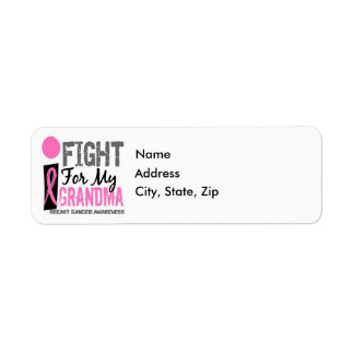 I Fight For My Grandma Breast Cancer Label