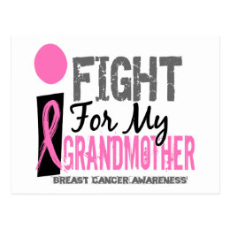I Fight For My Grandmother Breast Cancer Postcard