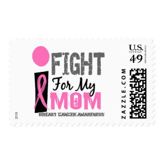 I Fight For My Mom Breast Cancer Postage Stamps