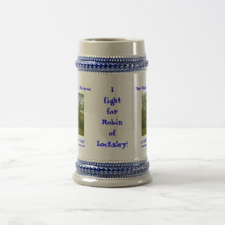 I Fight for Robin! 18 Oz Beer Stein