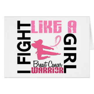 I Fight Like A Girl 3.2 Breast Cancer Greeting Card