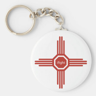 i fight-red keychain