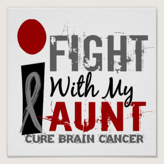 I Fight With My Aunt Brain Cancer Poster