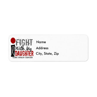 I Fight With My Daughter Brain Cancer Label