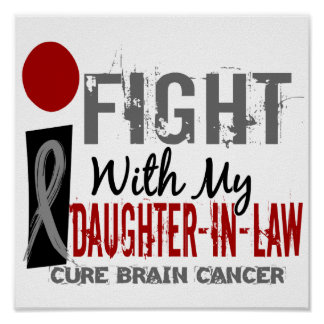 I Fight With My Daughter-In-Law Brain Cancer Print