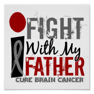 I Fight With My Father Brain Cancer Posters