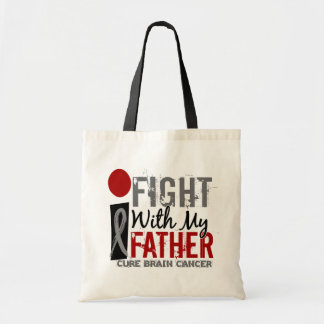 I Fight With My Father Brain Cancer Tote Bag