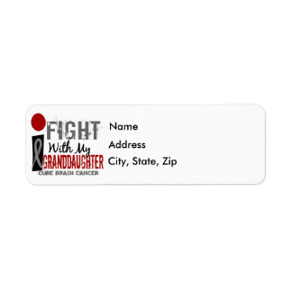 I Fight With My Granddaughter Brain Cancer Label