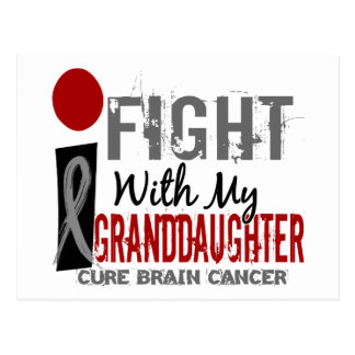 I Fight With My Granddaughter Brain Cancer Postcard