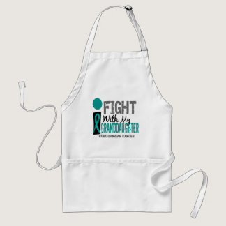 I Fight With My Granddaughter Ovarian Cancer Adult Apron
