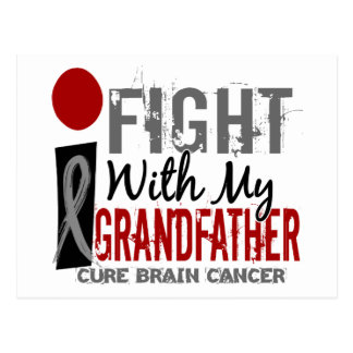 I Fight With My Grandfather Brain Cancer Postcard