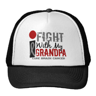 I Fight With My Grandpa Brain Cancer Hats