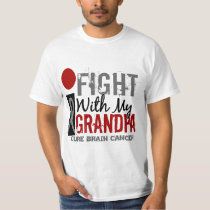 I Fight With My Grandpa Brain Cancer T-Shirt