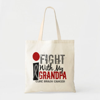 I Fight With My Grandpa Brain Cancer Tote Bag