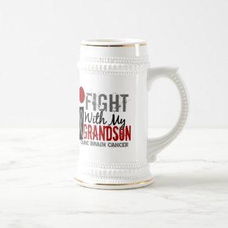 I Fight With My Grandson Brain Cancer Beer Stein