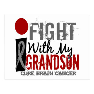 I Fight With My Grandson Brain Cancer Postcard