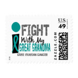 I Fight With My Great Grandma Ovarian Cancer Postage