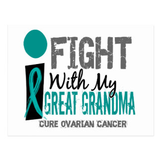 I Fight With My Great Grandma Ovarian Cancer Postcard