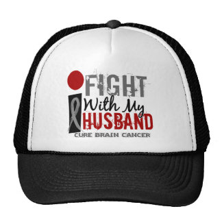 I Fight With My Husband Brain Cancer Mesh Hats