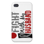 I Fight With My Husband Brain Cancer iPhone 4 Case