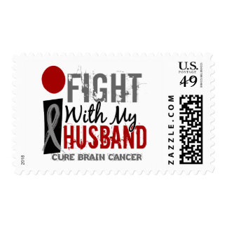 I Fight With My Husband Brain Cancer Stamps