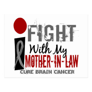 I Fight With My Mother-In-Law Brain Cancer Postcard