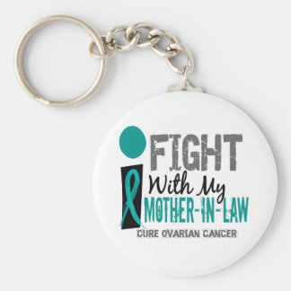 I Fight With My Mother-In-Law Ovarian Cancer Keychain