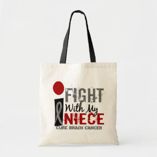 I Fight With My Niece Brain Cancer Tote Bag