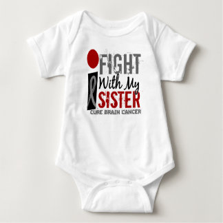 I Fight With My Sister Brain Cancer Baby Bodysuit