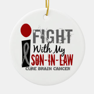 I Fight With My Son-In-Law Brain Cancer Christmas Tree Ornament