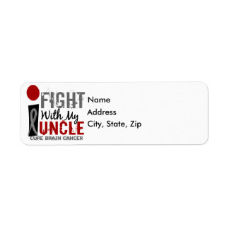 I Fight With My Uncle Brain Cancer Label