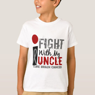 I Fight With My Uncle Brain Cancer T-Shirt