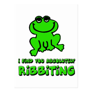 I find you absolutely Ribbiting Postcard