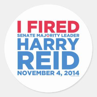 I Fired Harry Reid Classic Round Sticker