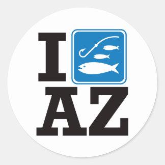 I Fish Arizona - AZ Classic Round Sticker