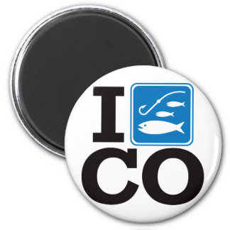 I Fish Colorado - CO 2 Inch Round Magnet