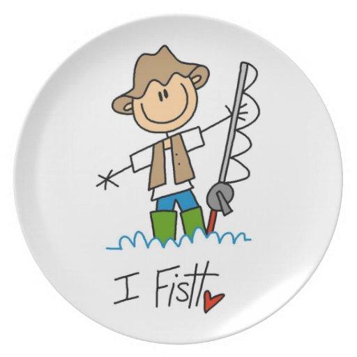 I Fish Dinner Plates