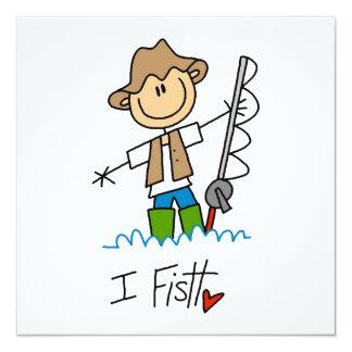 I Fish 5.25x5.25 Square Paper Invitation Card