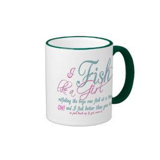I Fish Like a Girl Fishing Gear Mugs