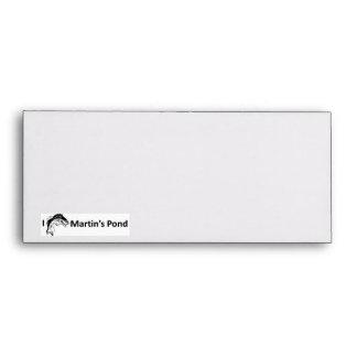 I Fish Martin's Pond Envelopes