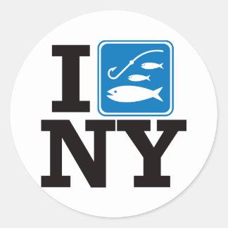 I Fish New York - NY Classic Round Sticker