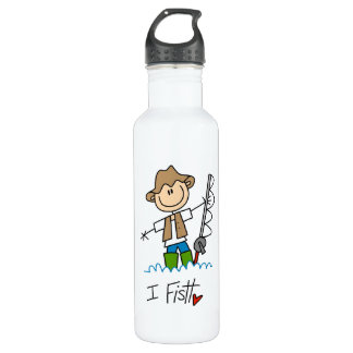 I Fish Stainless Steel Water Bottle