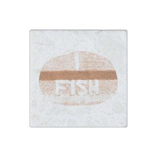 I Fish  'Tailgate Talk' Stone Magnet